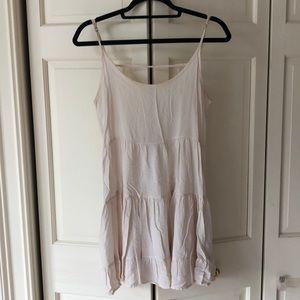 Brandy Melville Cream Open Back Babydoll Dress